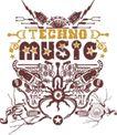 音乐摇滚元素0069,音乐摇滚元素,花纹图案,设计元素