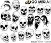 骷髅头0001,骷髅头,花纹图案,人骨