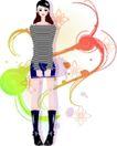 花纹女性0011,花纹女性,花纹背景,