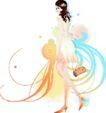 花纹女性0015,花纹女性,花纹背景,