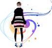花纹女性0020,花纹女性,花纹背景,