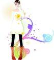 花纹女性0021,花纹女性,花纹背景,