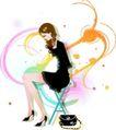花纹女性0022,花纹女性,花纹背景,
