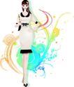 花纹女性0026,花纹女性,花纹背景,