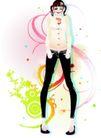 花纹女性0031,花纹女性,花纹背景,