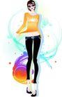 花纹女性0040,花纹女性,花纹背景,瘦腿