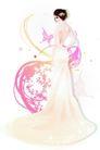 花纹女性0041,花纹女性,花纹背景,长裙