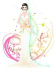 花纹女性0042,花纹女性,花纹背景,优雅服饰