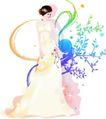 花纹女性0043,花纹女性,花纹背景,清淡色调