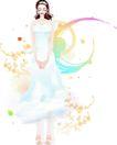 花纹女性0044,花纹女性,花纹背景,春季少女