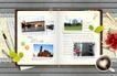 创意设计专辑030018,创意设计专辑03,创意设计,翻开的书 咖啡