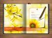 创意设计专辑030040,创意设计专辑03,创意设计,一支笔 黄色花朵