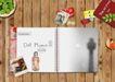 创意设计专辑030052,创意设计专辑03,创意设计,记事本 空白页面 木条桌面