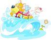 卡通动物0018,卡通动物,卡通,在海上玩