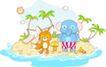 卡通动物0020,卡通动物,卡通,蓝色小象
