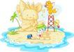 卡通动物0033,卡通动物,卡通,玩沙子 沙雕
