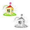 卡通商业0029,卡通商业,卡通,小房子