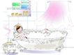 卡通女性0016,卡通女性,卡通,洗澡 泡澡