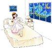 卡通女性0017,卡通女性,卡通,在家 晚上
