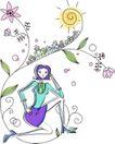 卡通时尚女性0022,卡通时尚女性,卡通,花样年华