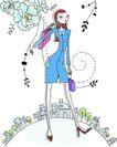 卡通时尚女性0040,卡通时尚女性,卡通,