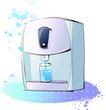卡通电器物件0016,卡通电器物件,卡通,饮水机 水杯 蓝色的水