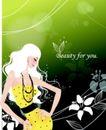 女性花纹0023,女性花纹,女性生活,白色头发