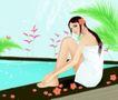 打扮女性0017,打扮女性,女性生活,花瓣散落