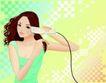 打扮女性0029,打扮女性,女性生活,拉直头发