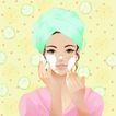 打扮女性0049,打扮女性,女性生活,面部护理 毛巾缠头 美容