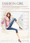 购物女性0023,购物女性,女性生活,七分裤