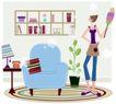 运动女性0018,运动女性,女性生活,打扫时间