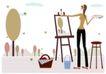 运动女性0028,运动女性,女性生活,绘画