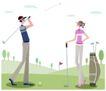 运动女性0050,运动女性,女性生活,高尔夫球 击球 草场