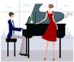 运动女性0053,运动女性,女性生活,弹钢琴 男钢琴师 舞女