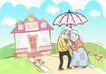 金色情人节0024,金色情人节,女性生活,一起撑伞
