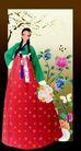 韩国女性0024,韩国女性,女性生活,红色长裙