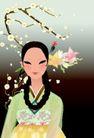 韩国女性0027,韩国女性,女性生活,女性经典插画