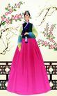 韩国女性0048,韩国女性,女性生活,梅花 木栏 韩装