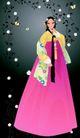 韩国女性0050,韩国女性,女性生活,白色花藤 大围裙