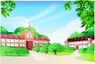 家庭和睦0047,家庭和睦,家庭,教堂 户外绿化 城市生态