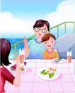 家庭和睦0052,家庭和睦,家庭,海上渡假 温馨夏日 游船一角