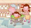 家庭团聚0028,家庭团聚,家庭,超市购物