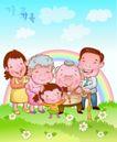 家庭团聚0029,家庭团聚,家庭,彩虹 温馨一家