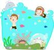 家庭学习0024,家庭学习,家庭,潜进水里