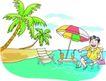 家庭旅游0016,家庭旅游,家庭,海岛 绿椰树