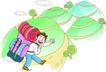 家庭旅游0018,家庭旅游,家庭,远足 行李包