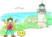 家庭旅游0022,家庭旅游,家庭,灯塔