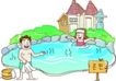 家庭旅游0024,家庭旅游,家庭,泡温泉