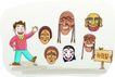家庭旅游0030,家庭旅游,家庭,脸谱